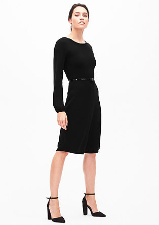 Tonal knit dress from s.Oliver