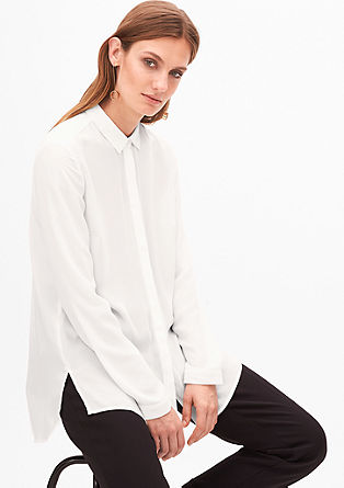 Lange blouse met plisséplooien