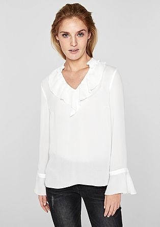 Crêpe blouse met volants