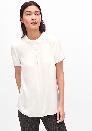 Short sleeve blouse with a turtleneck from s.Oliver