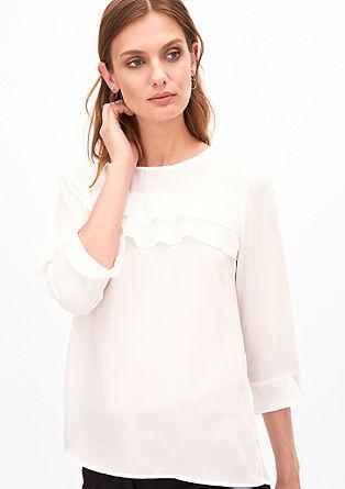 Oversize-Bluse mit Volants