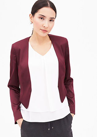 Short satin blazer from s.Oliver