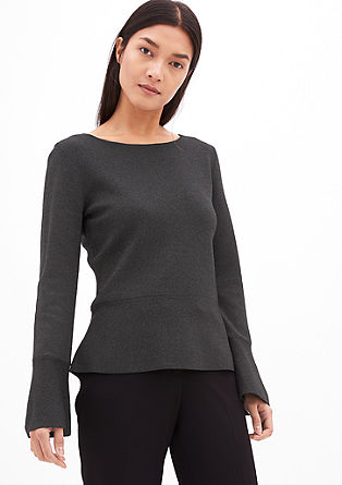 Tajliran peplum pulover