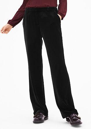 Charlotte Wide: sametové kalhoty