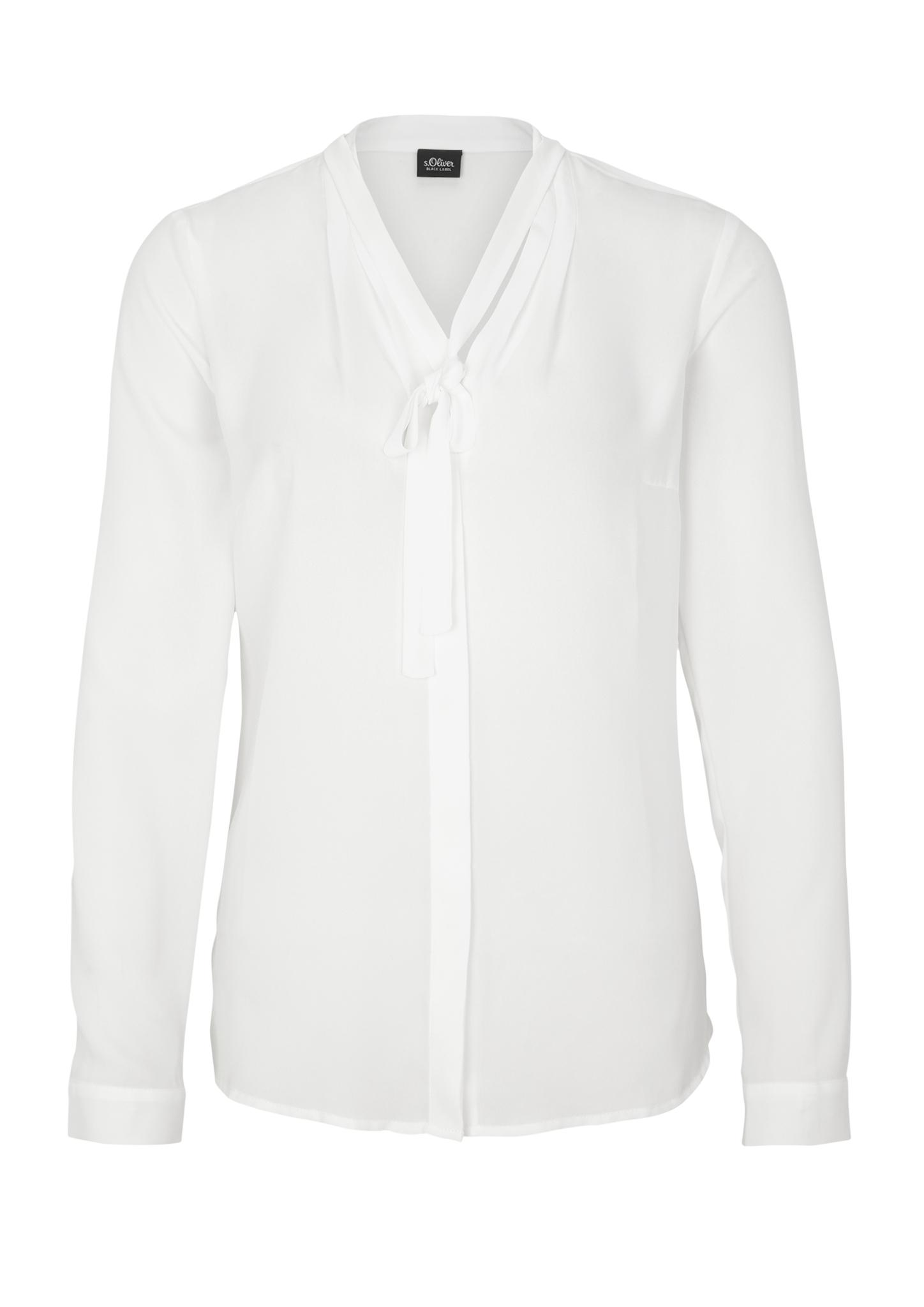 Schluppenbluse | Bekleidung > Blusen > Schluppenblusen | Weiß | 100% polyester | s.Oliver BLACK LABEL