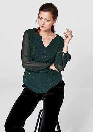 Lightweight blouse with textured pattern from s.Oliver