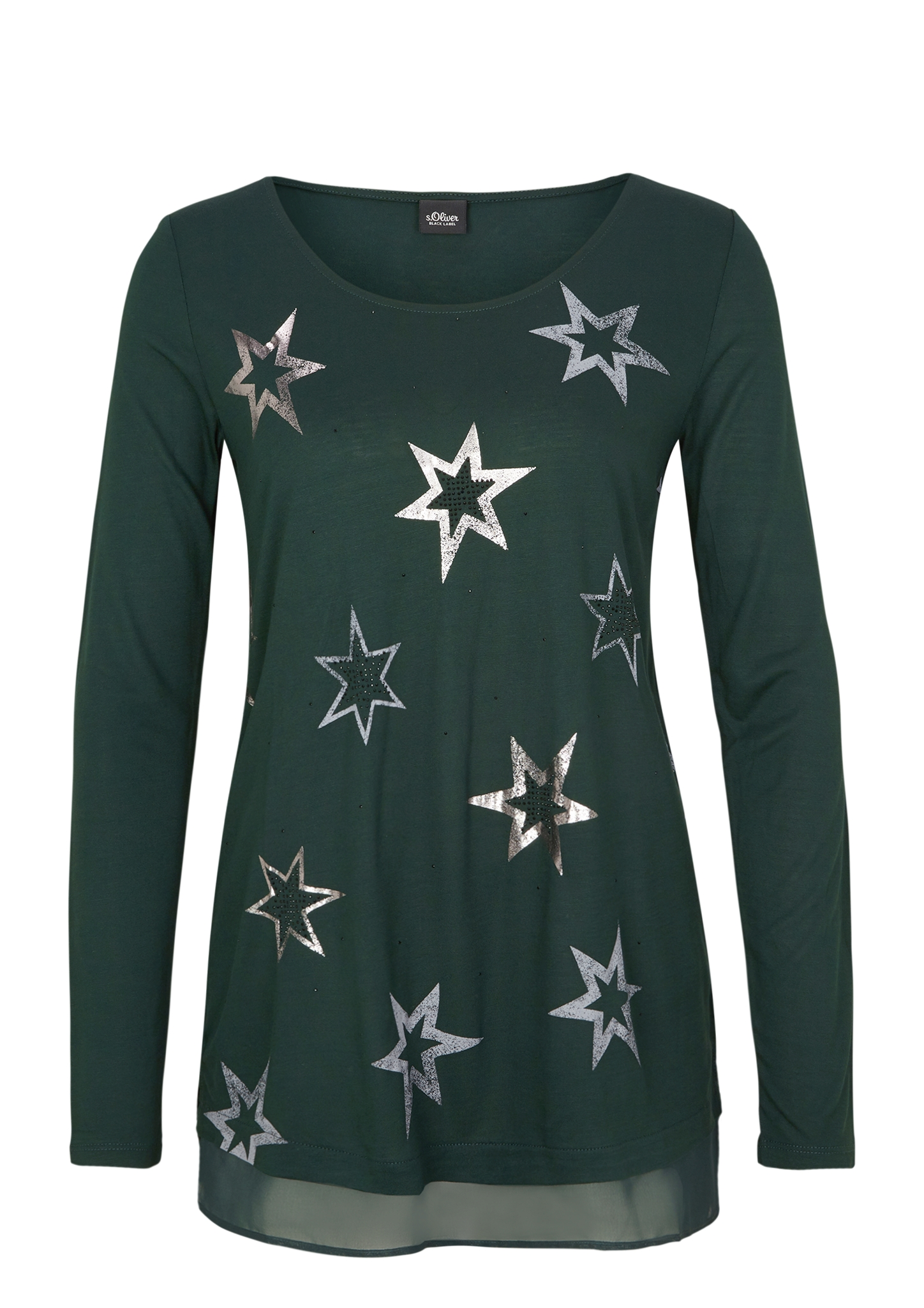 Longshirt | Bekleidung > Shirts > Longshirts | Grün | 100% viskose | s.Oliver BLACK LABEL