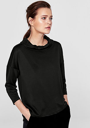 Sweatshirt with a polo neck from s.Oliver