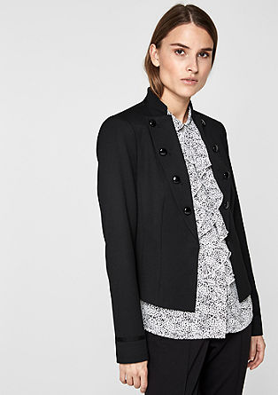 Retro-look blazer with a stand-up collar from s.Oliver