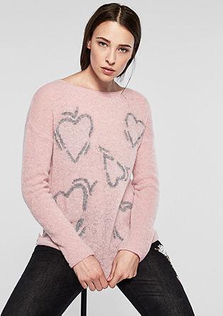 Vzorčast pleten pulover