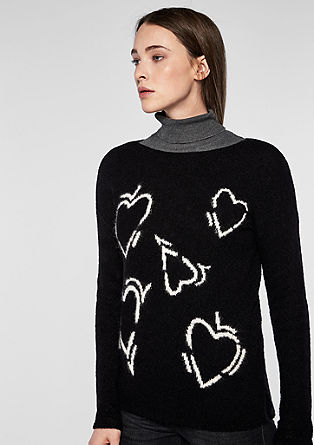 Patterned knit jumper from s.Oliver