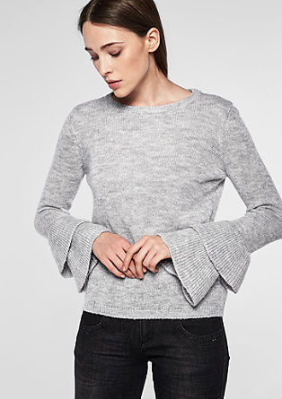 Knit jumper with flounce sleeves from s.Oliver