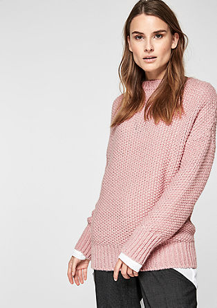 Blended wool jumper with lurex from s.Oliver