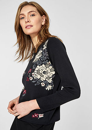 Boxy jumper with a jacquard pattern from s.Oliver