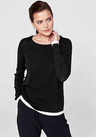 Pullover mit Kontrastkante