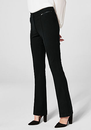 Rachel Straight: trousers with pintucks from s.Oliver