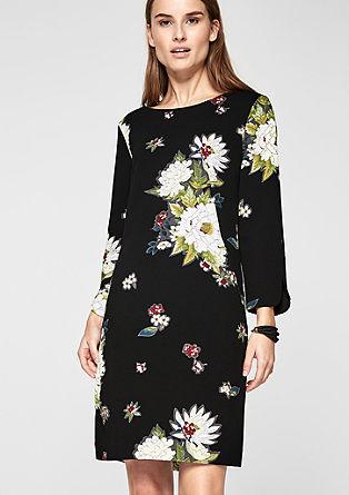 Stretchkleid mit Blumen-Print