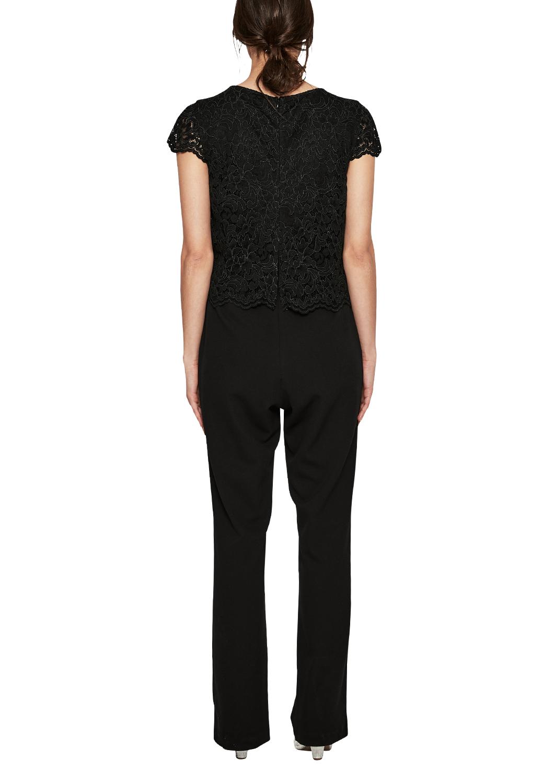 exklusives Sortiment Qualitätsprodukte Rabatt bis zu 60% Details zu s.Oliver BLACK LABEL Damen Eleganter Jumpsuit mit Spitze Neu
