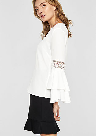 Boho blouse with trumpet sleeves from s.Oliver