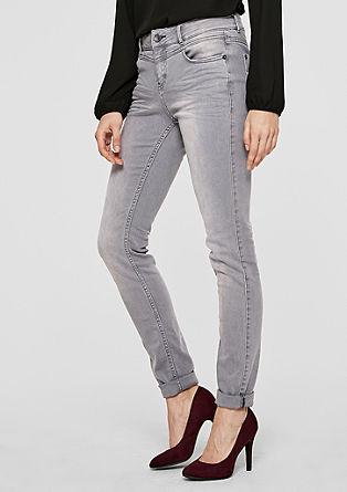 Sienna superslim: jeans in een used look