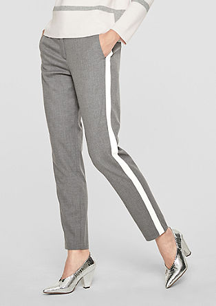 Rachel Slim: Flannel trousers with stripes from s.Oliver
