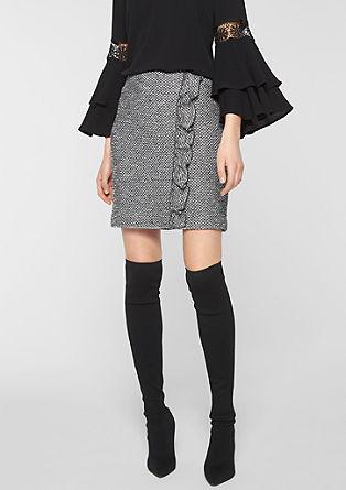 Volánová sukně se vzhledem tvídu