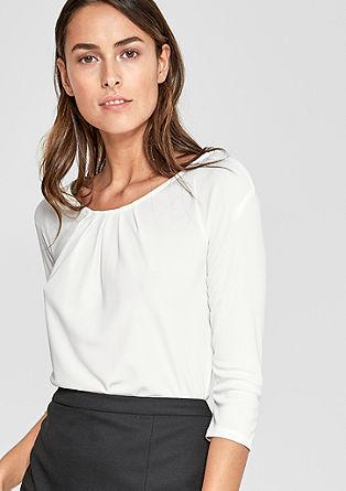Shirt met geplooid detail