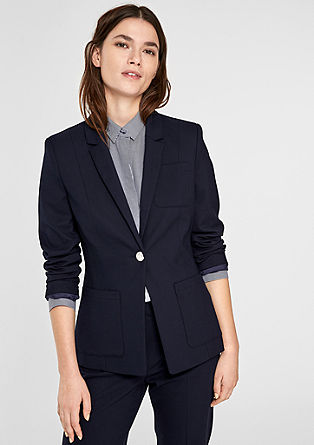 Fitted blazer with an emblem button from s.Oliver