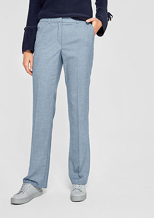 Rachel Straight: Fil-a-fil trousers from s.Oliver