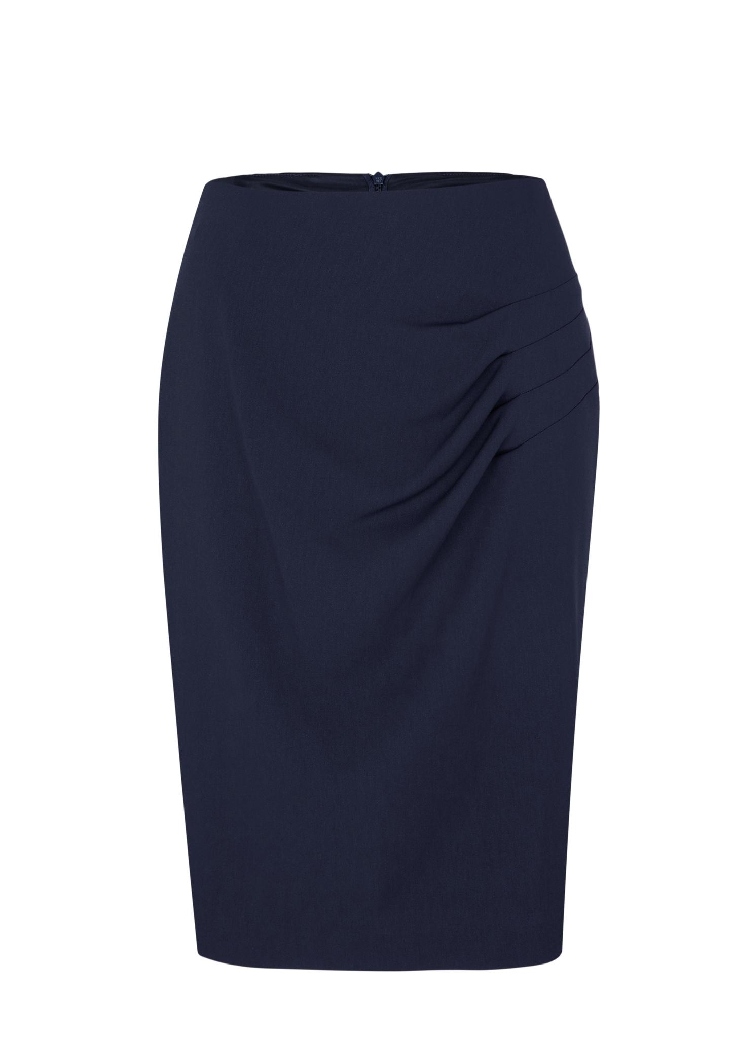 Faltenrock | Bekleidung > Röcke > Faltenröcke | Blau | Obermaterial 98% polyester -  2% elasthan| futter 100% polyester | s.Oliver BLACK LABEL
