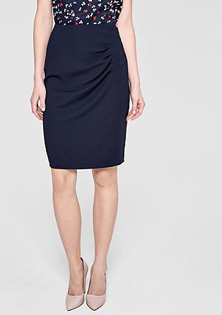 Slim-fitting skirt with a pleated effect from s.Oliver