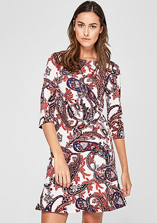 Crêpe dress with an all-over print from s.Oliver