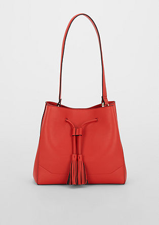 Bucket bag with tassels from s.Oliver