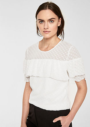 Blouse top with flounces from s.Oliver