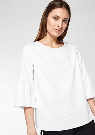 Flounce blouse with decorative beads from s.Oliver