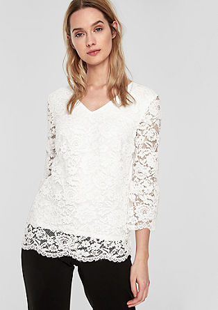 Blouse top made of floral lace from s.Oliver