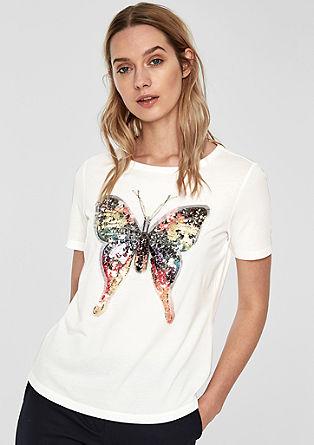 T-shirt met artwork van vlinders