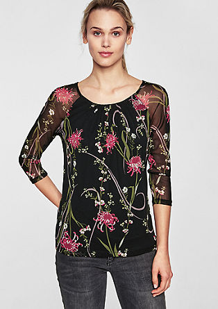 Blouse met laagjeseffect en print all-over