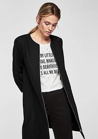 Kabát bez límce svolánovými rukávy