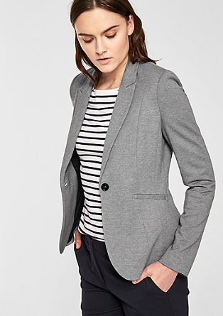 Comfortable jersey blazer from s.Oliver