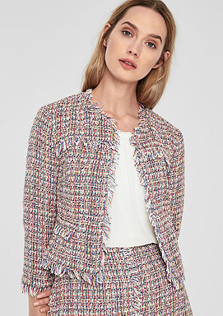 Blazer in bunter Bouclé-Optik