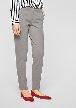 Rachel Slim: trousers with pressed pleats from s.Oliver