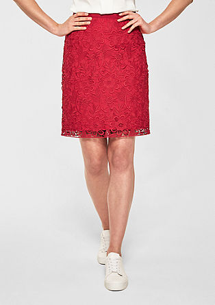 Crochet lace pencil skirt from s.Oliver