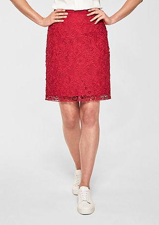 Pouzdrová sukně zháčkované krajky