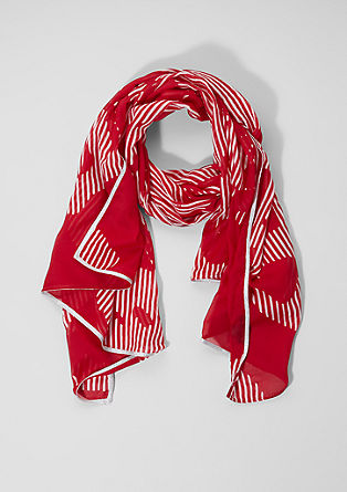 Scarf with an all-over pattern from s.Oliver