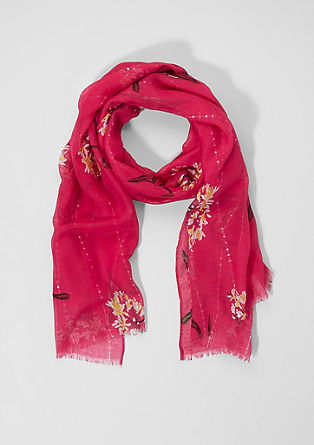 Scarf with a floral print from s.Oliver