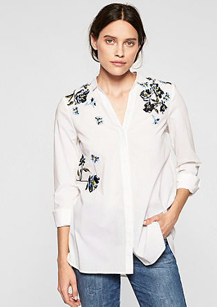 Batiste blouse with embroidery from s.Oliver