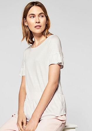 Jerseyshirt mit Volants