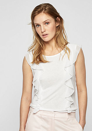 Top met chiffon volants