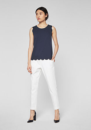 Top with a scalloped hem from s.Oliver